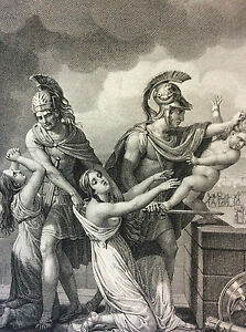 Les-Metamorphoses-D-039-Ovid-Astyaniax-Son-D-039-Hector-Shot-Troy-Print-of-1806