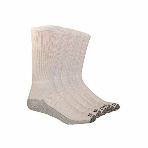 Dickies Men's Multi-Pack Dri-Tech Moisture Control Crew Socks,, White, Size 5.0