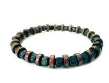 men's bracelet wooden beads stretch beaded surfer accessory wristband gift men
