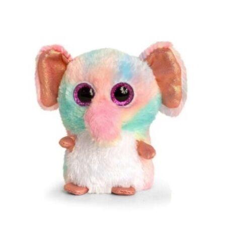 Peluche Keel Toys Mini motsu 10cm éléphant arc en ciel