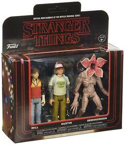 """Will Dustin Demogorgon 3-Pack Stranger Things Netflix Serie 3 3/4"""" Figur Funko"""