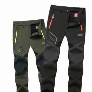 Mens-Outdoor-Soft-shell-Camping-Tactical-Cargo-Pants-Combat-Hiking-Trousers-New