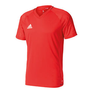 Details zu adidas Tiro 17 Trainingsshirt Rot Schwarz