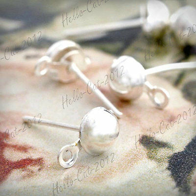 20g Iron Silver Color Earring Stud Headpin Wholeasale Lots 14x9x5mm OK HCEF0265