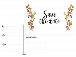 Save-The-Date-Cards-30-pcs-Floral-Rustic-Rose-for-Weddings-Postcards