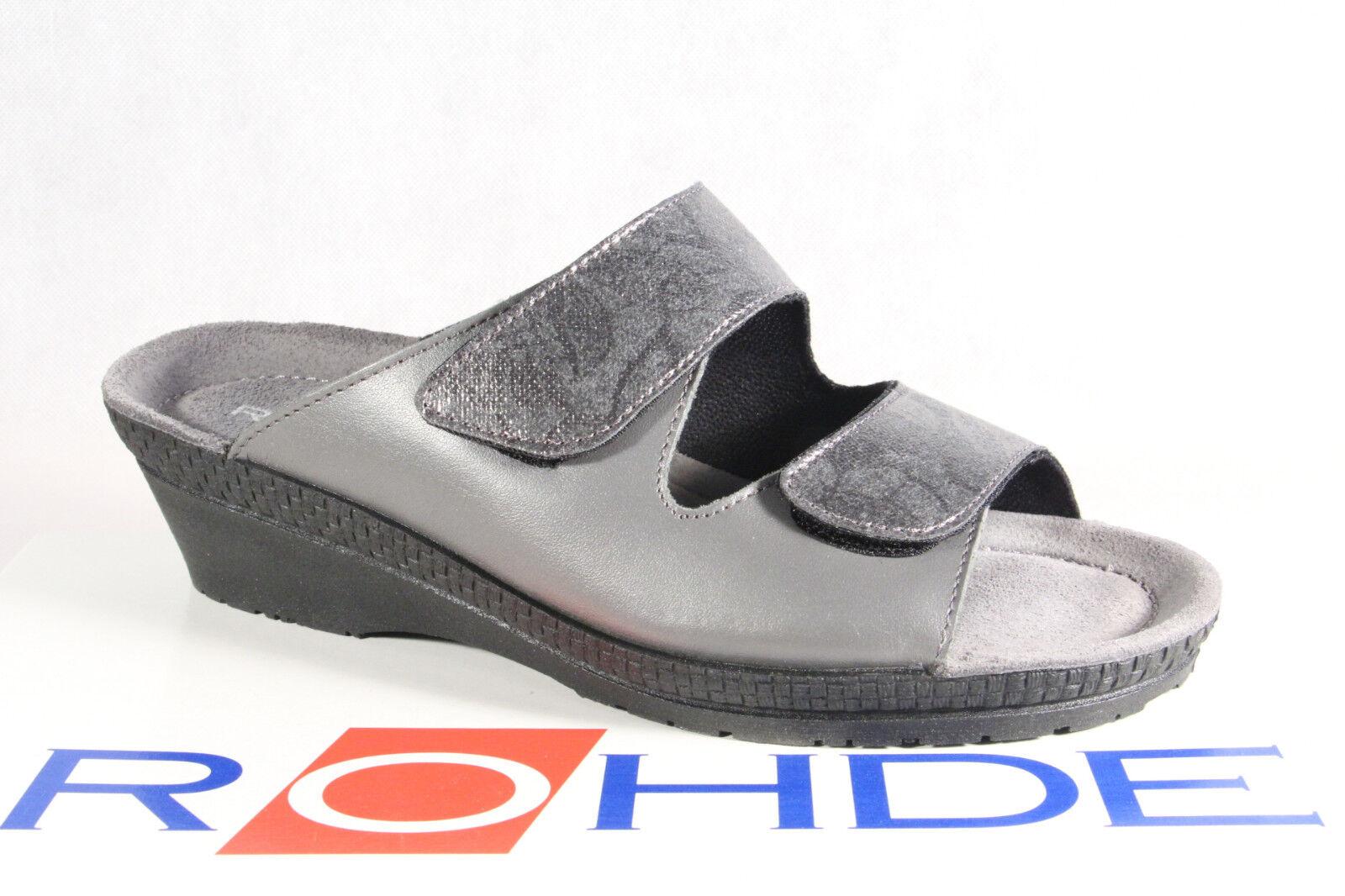 Rohde Ciabatte, Sandali Casa Scarpe Pantofole Grigio Ampiezza G 1466 pelle Nuovo   Prodotti Di Qualità    Uomini/Donna Scarpa