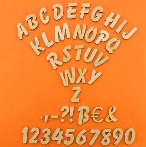 Details zu Holzbuchstaben Zahlen aus Holz 3cm Kinderzimmer Basteln Türschild