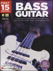 15 Premières Leçons Bass Guitar Tab Book/audio/vidéo Apprendre à Jouer Méthode-eo Learn How To Play Method Fr-fr Afficher Le Titre D'origine Rendre Les Choses Pratiques Pour Les Clients