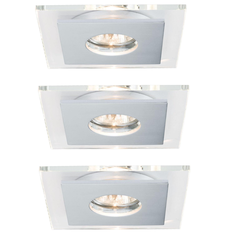 3er Set Paulmann 927.25 Einbauleuchte Single Layer 3x40W Glas inkl. Leuchtmittel