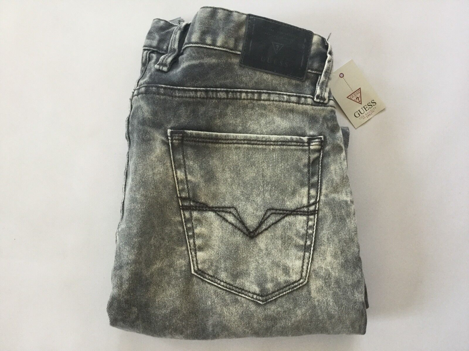 Guess Men's Slim Straight Jeans In Metropolis Grey Wash Size 31X30