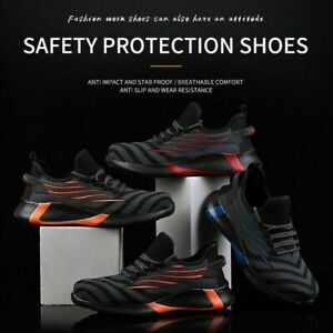 Chaussures sécurité pour hommes Bottes travail légères à bout en acier Baskets F