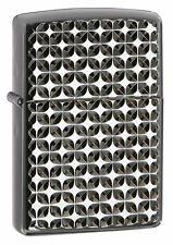 Zippo 28186, Armor, Engine Turn Star, Black Ebony Lighter, ***6 Flints/Wick***