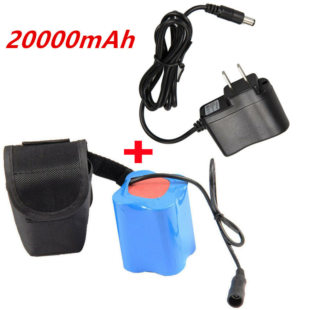 18650 26650 12000mAh 8.4V Rechargeable Battery Pack For Bicycle Bike Light Lamp
