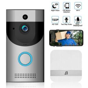 USA-Wireless-Video-Doorbell-WiFi-Security-Camera-720P-HD-Intercom-Phone-Ring-Lot