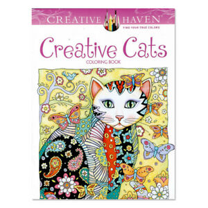 Haven-Creative-Cats-Colouring-Book-Adults-Stress-Reliever-Secret-Garden-Gift