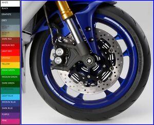 8 x YAMAHA Wheel Rim Decals Stickers - mt10 mt07 mt01 mt09 mt05 mt03 r1 r6 xjr
