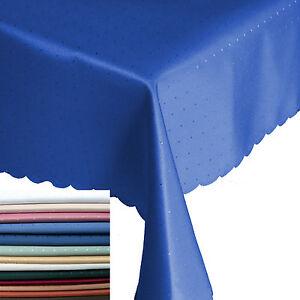 Abverkauf-Punkte-Damast-Tischdecke-Eckig-Breite-90-110-130-135-cm-Groesse-Farbe