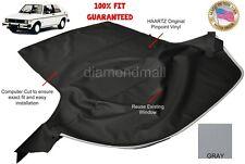 VW Volkswagen Rabbit Cabriolet GOLF 1980-1994 Convertible Soft Top Gray Vinyl