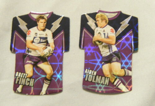 #4. LOT OF TWO 2009 RUGBY LEAGUE FOIL M JERSEY CARDS MELBOURNE STORM