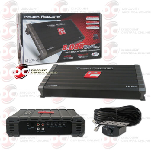 NEW POWER ACOUSTIK CB1-8000D CLASS D MONO BLOCK 1-CHANNEL SUBWOOFER AMPLIFIER