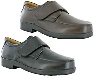Roamers-Extra-Wide-Leather-Lightweight-EEE-Fit-Adjustable-Mens-Shoes-UK-6-14