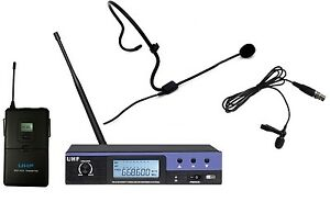 Single-Channel-UHF-Wireless-Headset-Lavalier-Cordless-Microphone-System