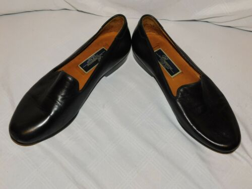 BRAGANO COLE HAAN BLACK LEATHER LOAFERS SIZE 8 1/2