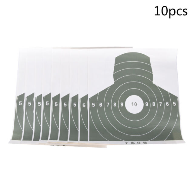 10pcs Shooting Archery Target Paper Practice Target Arrow Hunting Accessories DD