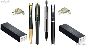Premium Pen Sets Black w Gold & Black w Chrome Urban IM Ballpoint / Rollerball