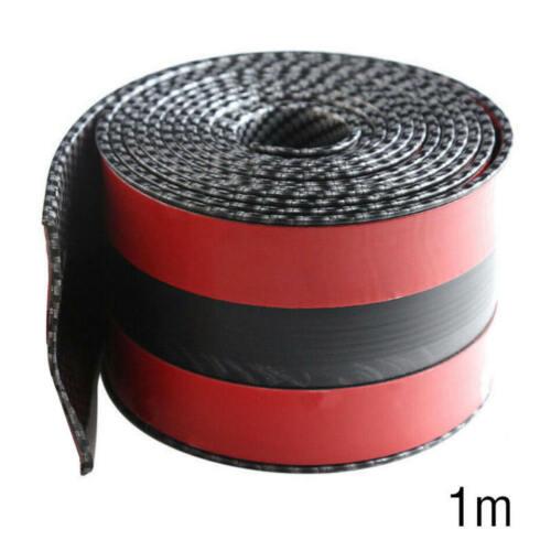 Car Sticker Carbon Fiber Rubber DIY Door Sill Protector Edge Guard Strip 10CM*1M
