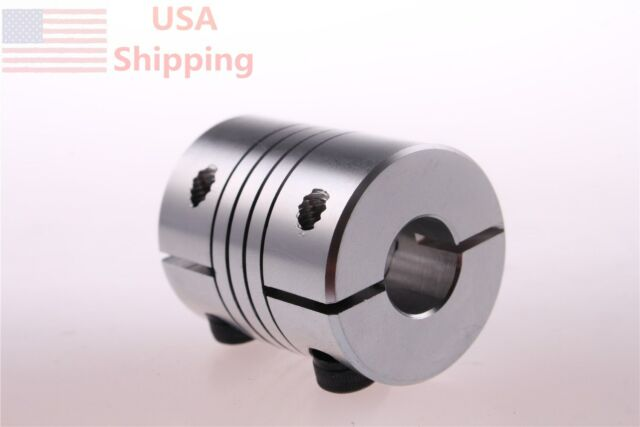 BR 6.35mmx10mm CNC Motor Shaft Coupler 6.35mm to 10mm Coupling D25L30 YB