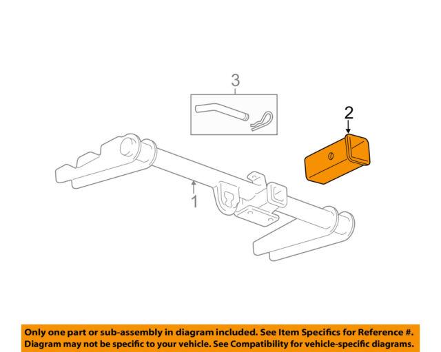 Genuine GM 15923277 Trailer Hitch Draw Bar Adapter