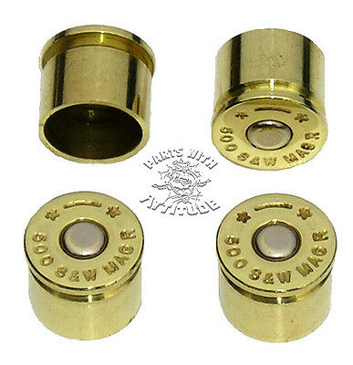 BRASS BULLET BOLT CAPS FOR HARLEY HANDLE BAR CLAMPS (SET OF 4)