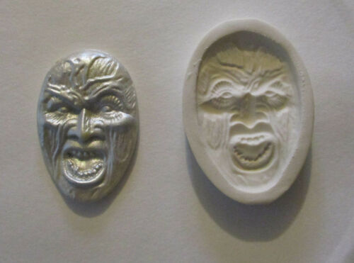 """Walking Dead Zombie Face Hard Polymer Clay Mold DIY Jewelry Size 2/""""x1-1//4/"""""""