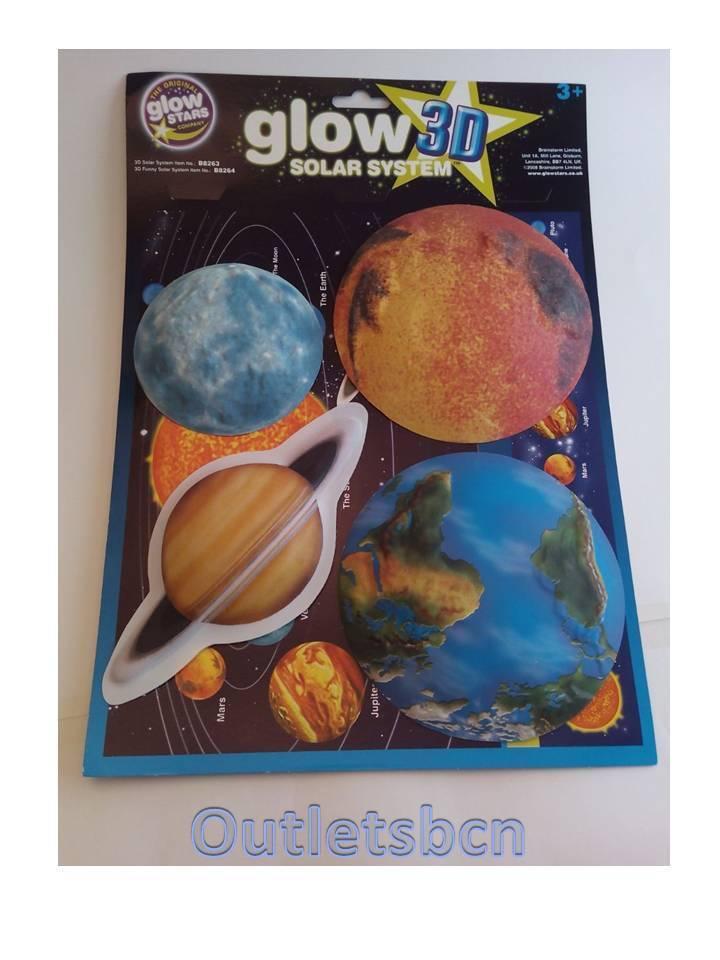Pegatinas 3D sistema solar brillante en la oscuridad 3D Glow habitación salon