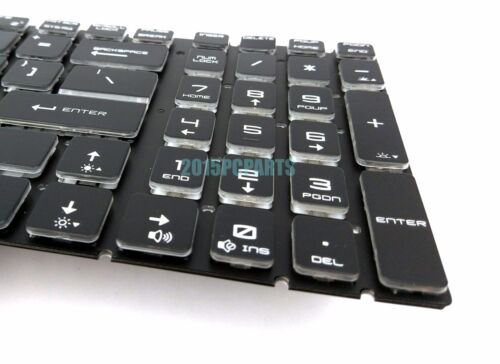 NEW For MSI GE62VR 6RF Apache Pro Colorful Backlit Keyboard Crystal US