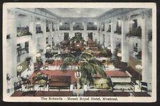 Postcard MONTREAL Quebec/CANADA  Mount Royal Hotel Main Lobby Rotunda 1910's?