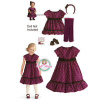 American Girl Cl Bitty Baby Duo Sweet Snowflake Dress Size 4 M For Girls & Dolls