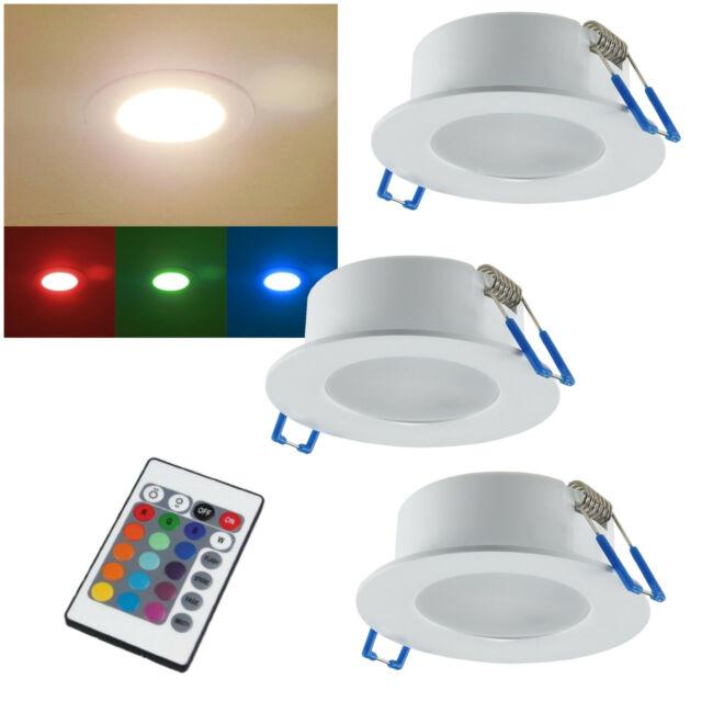 Rgb-Warmweiß LED Encastrable IP44 230V 5W avec Télécommande Extérieur L' Bain A+