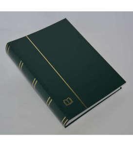 COLLECTA-Luxus-60 weiße Seiten A4 Briefmarkenalbum Einsteckbuch grüner Einband