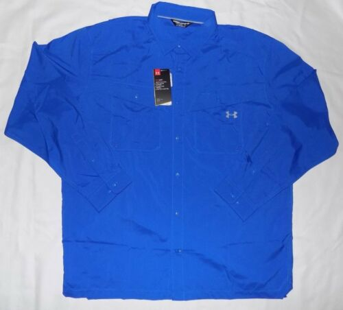 NWT UNDER ARMOUR MEN/'S VENTED UPF 30 BUTTON FRONT LOOSE FIT SHIRTS LG,XL,XXL