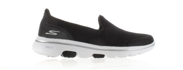 Skechers Womens Go Walk 5 Black/White Walking Shoes Size 8.5 (1926677)
