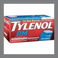 Tylenol PM 225 ct Caplets Extra Strength Pain reliever sleep aid Sleeping Pills