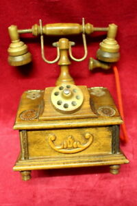 Antique-french-vintage-wooden-case-desk-telephone-box-jewelry-box
