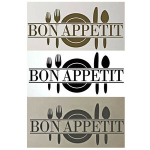 Bon appetit art sticker salle manger cuisine vinyl for Stickers salle a manger