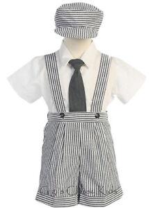 Pour Bébé Anthracite Garçon Rayé Seersucker Porte-jarretelles Shorts Set Outfit G822-afficher Le Titre D'origine Pour RéDuire Le Poids Corporel Et Prolonger La Vie