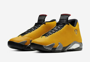 best service 2729f 0aa7b Details about 2019 AIR JORDAN 14 RETRO SE REVERSE FERRARI YELLOW  GOLD/BLACK-RED BQ3685-706