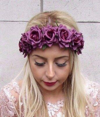 Ivory Rose Vine Garland Festival Head Band Hair Accessories UK