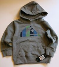 NWT Quiksilver Toddler Boys 2T Gray Heather Hooded Sweatshirt Warm Winter Logo