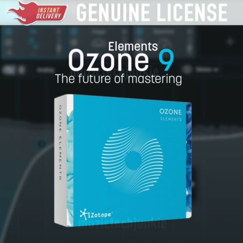 License KeyInstant eDelivery VST//AAX//AU iZotope OZONE Elements 9